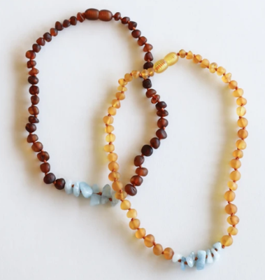 CanyonLeaf Baltic Amber Necklace - 13 in