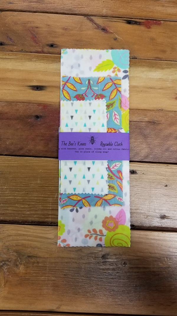 Bee's Knees Reusable Beeswax Wrap - 3 pack