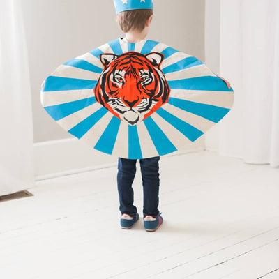 Lovelane Designs Blue Tiger Cape