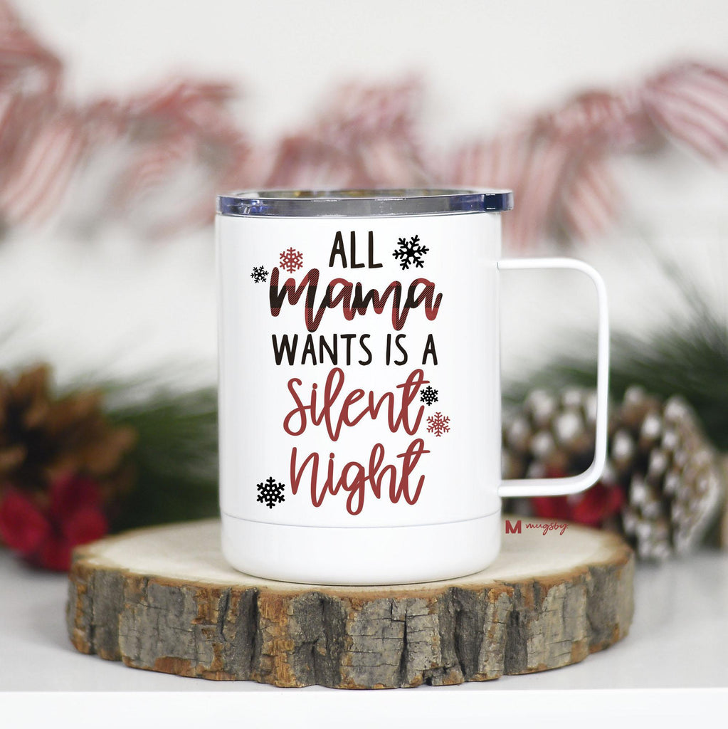 Holiday Insulated Mug with Handle