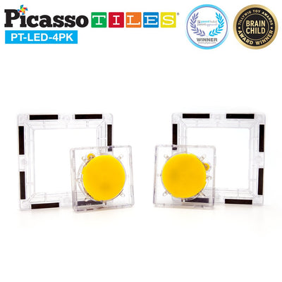Picasso Tiles 4 Piece LED Tile Set