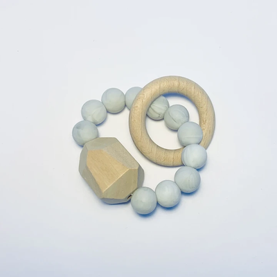 Sugar + Maple Silicone + Beechwood Gem Teether