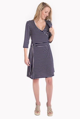Udderly Hot Mama Whimsical Wrap Maternity/Nursing Dress
