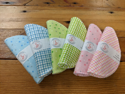 Epically Embroidered Flannel Nursing Pads