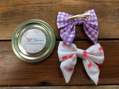 Pink Daydream Summer Bow Clips