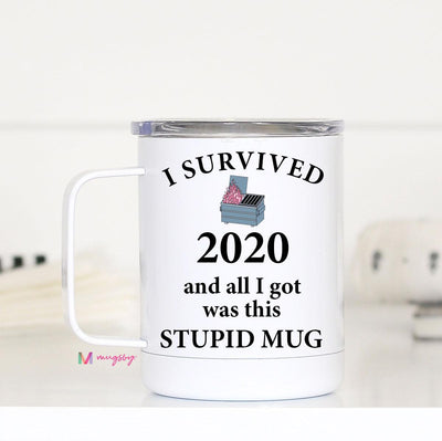 Survived 2020 Insulated Mug with Handle PRE-ORDER