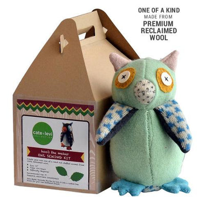 Cate & Levi Hoo's The Maker Owl Stuffed Animal Kit