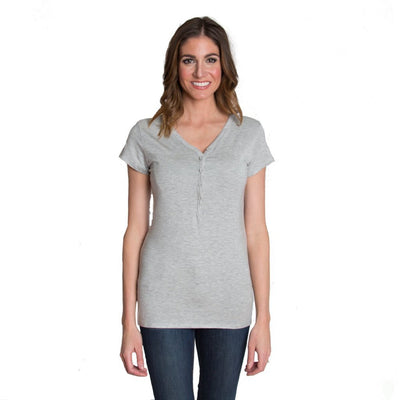 Udderly Hot Mama Blissful Button Down Nursing Top