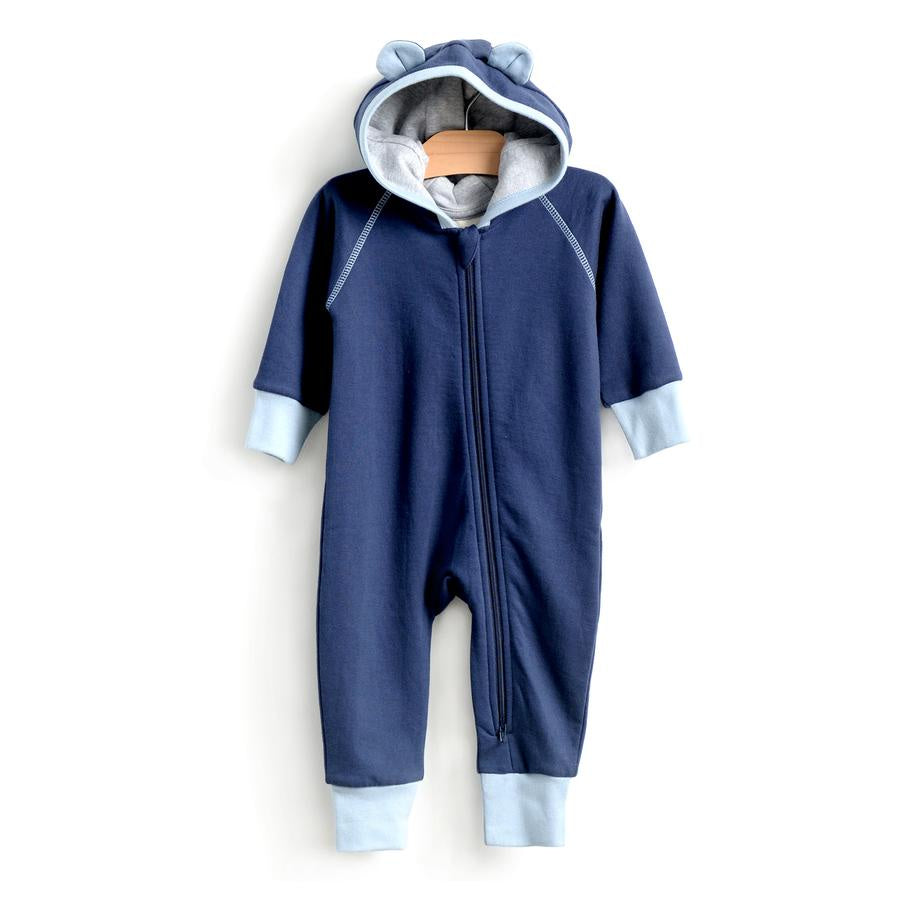 City Mouse - Bear Hooded Romper - Midnight