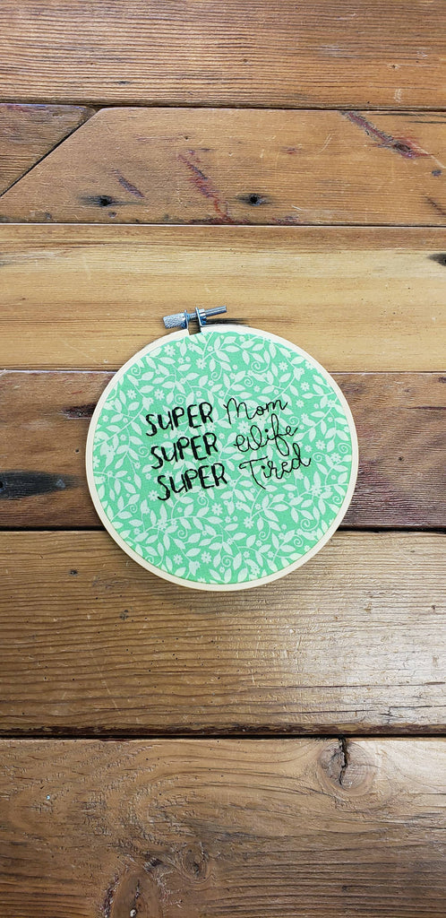PNW Stitch Witch Embroidery Hoop