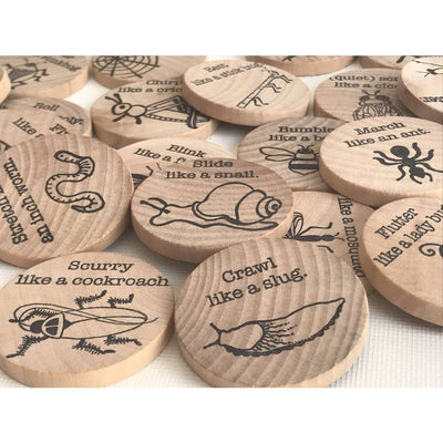Insect Action Wood Coin Game