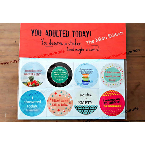 Adulting Stickers
