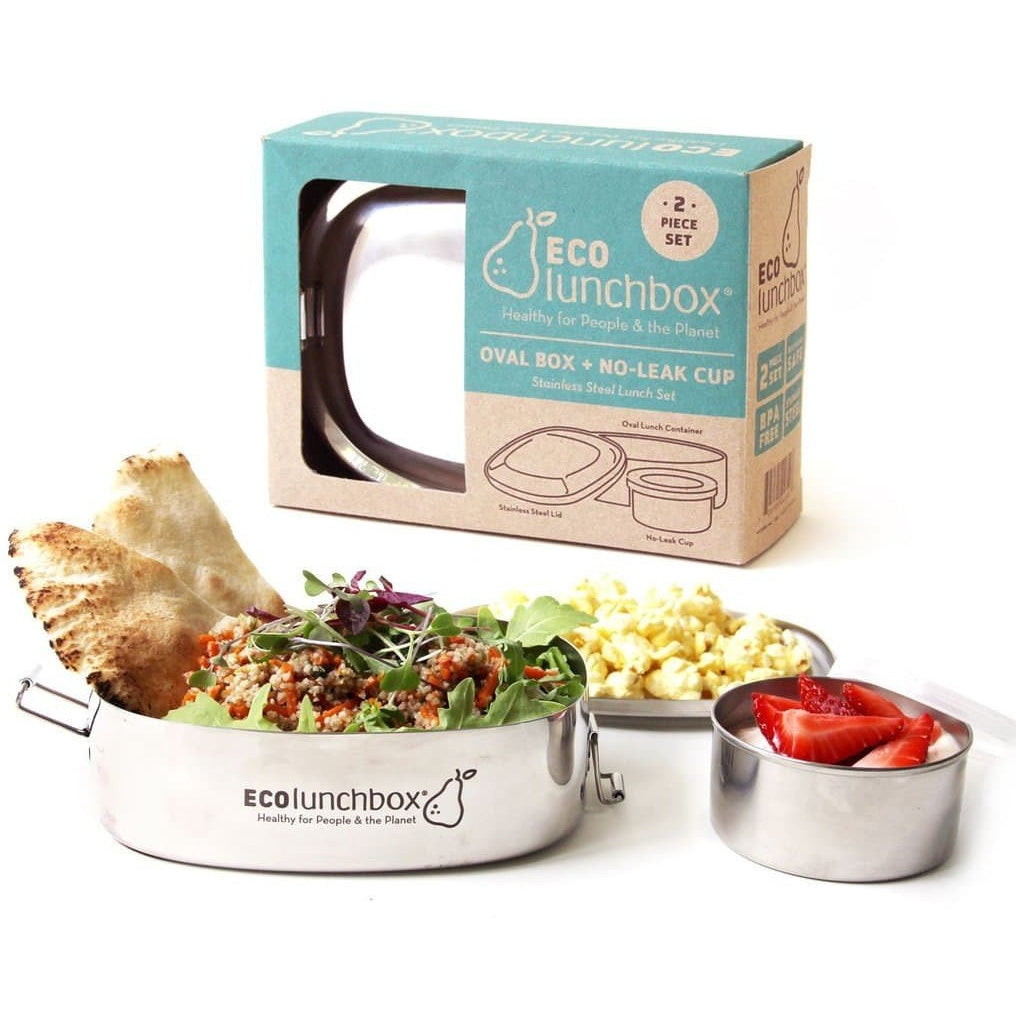 ECOlunchbox Oval & Snack Cup