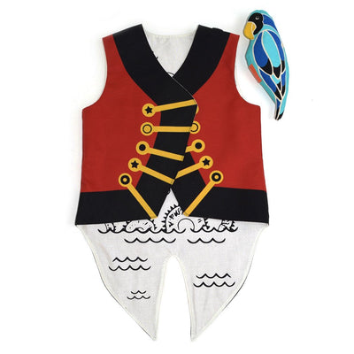 Lovelane Designs Pirate Vest with Removable Parrot