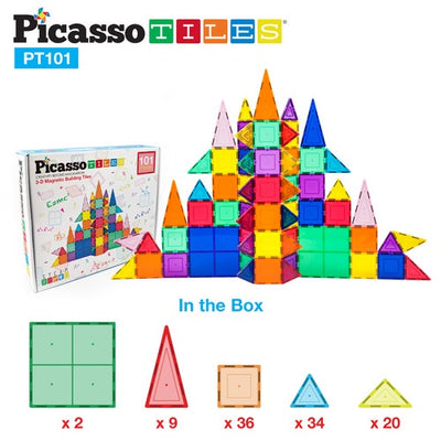 Picasso Tiles 101 Piece Magnet Building Set