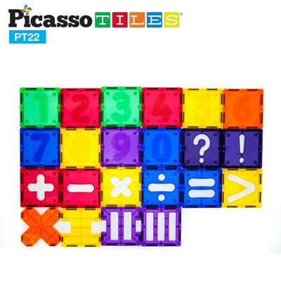Picasso Tiles 22 Piece Magnet Numerical Set