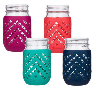 JarJackets 16oz Regular Mouth Silicone Mason Jar Sleeve