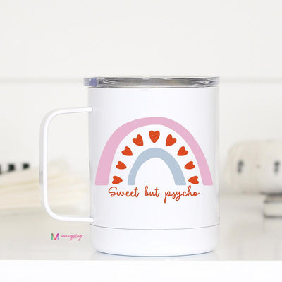 Sweet But Psycho Insulated Mug with Handle