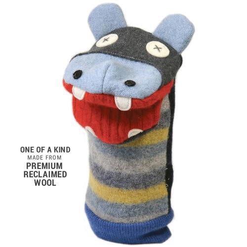 Cate & Levi Hippo Wool Puppet