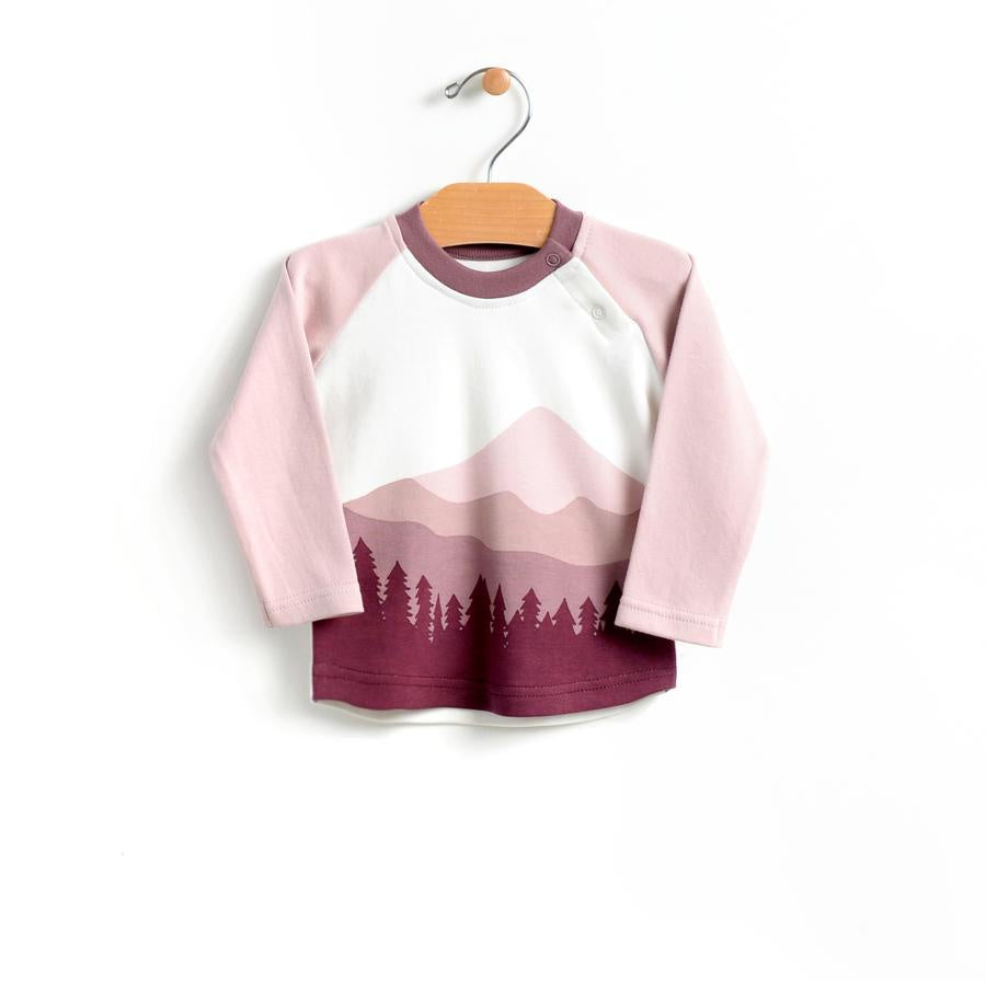 City Mouse - Mountain Raglan Mauve Blush