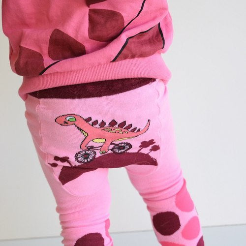 Doodle Pants - Pink Dino