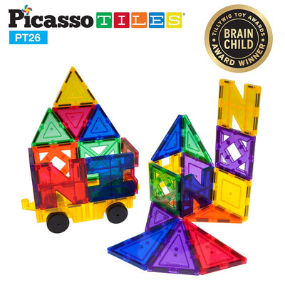 Picasso Tiles 26 Piece Magnet Inspirational Set