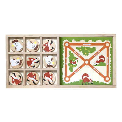 Begin Again Fox vs Chickens Tic Tac Toe & Farm Chase Game Set