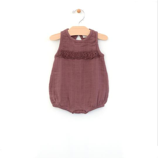 City Mouse - Orchid Muslin Bubble Romper