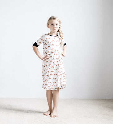 Peregrine Kidswear 80s Rainbow Twirl Dress