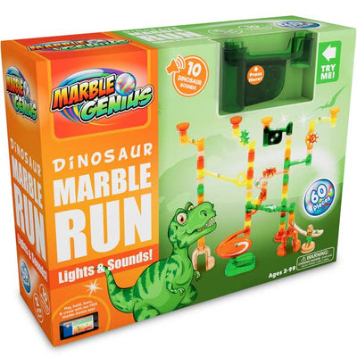 Marble Genius Marble Run Dinosaur Lights and Sounds Set