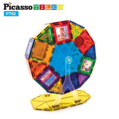 Picasso Tiles 62 Piece Ferris Wheel Magnet Set