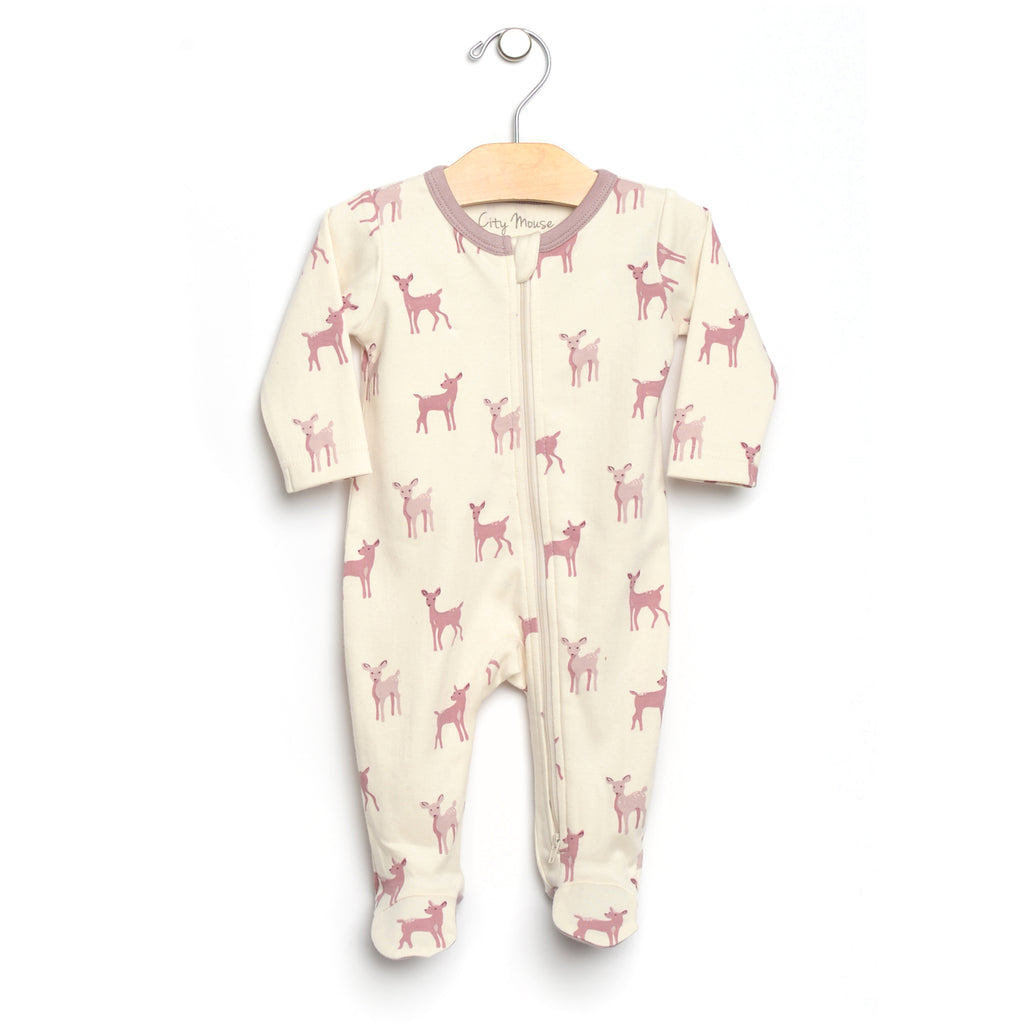 City Mouse - 2-Way Zip Deer Footed Romper