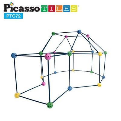 Picasso Tiles 72 Piece Fort Building Kit