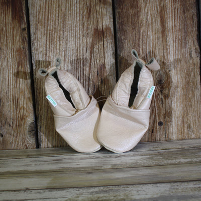 Soft Sole Shoes – Apricot & Bow – Summer Blowout FINAL SALE