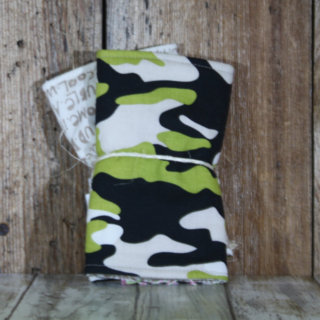 Moto Momma Creations – Green Camo Suckpads – Summer Blowout FINAL SALE