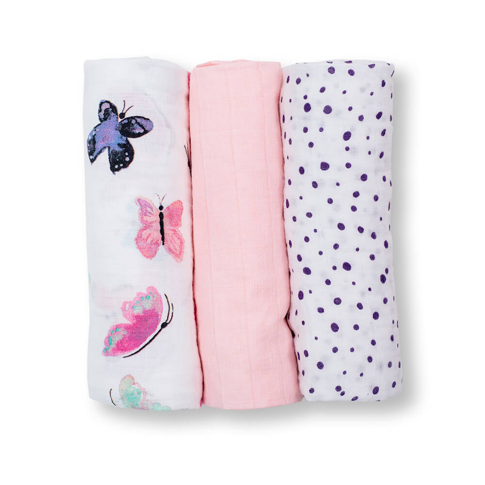 Lulujo Muslin Receiving Blankets (3 pack)