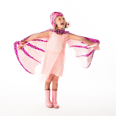 Lovelane Designs Pink Hat and Wing Dragon Set