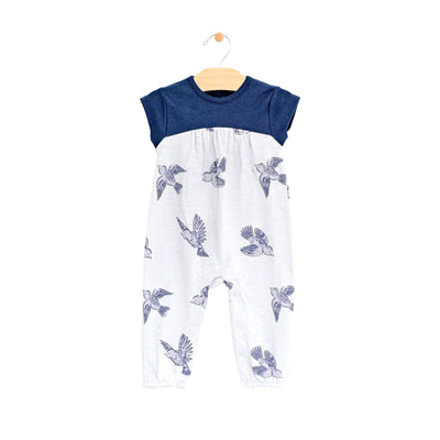 City Mouse - Bluebirds Long Romper
