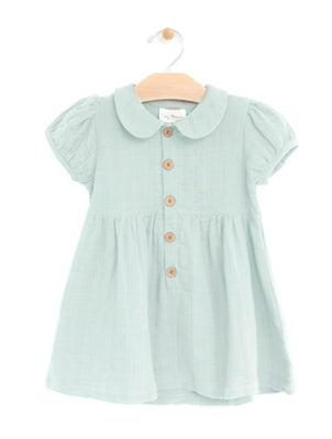 City Mouse - Sky Muslin Button Dress