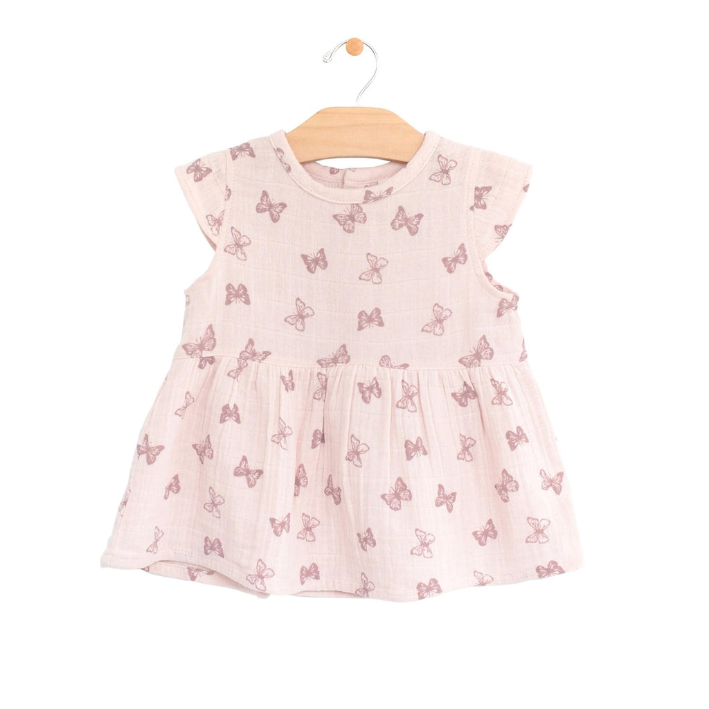 City Mouse - Butterflies Muslin Peplum Top