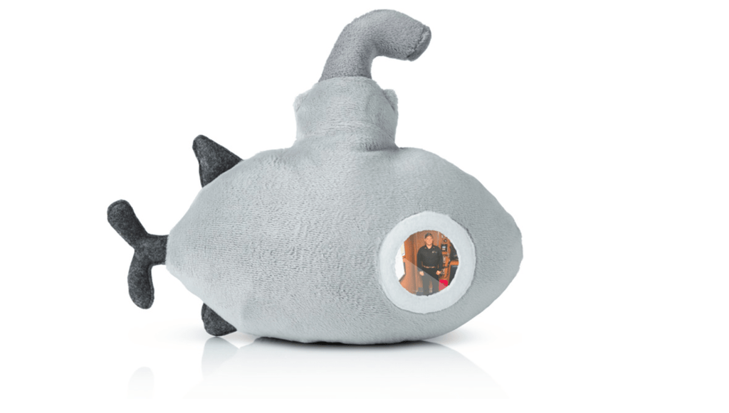16Submarines Cuddle Submarine Plush Toy with Photo Porthole