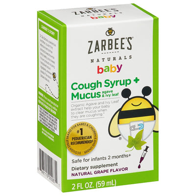 Zarbee's Naturals Baby Cough Syrup + Mucus 2-12 Months 2 fl. oz
