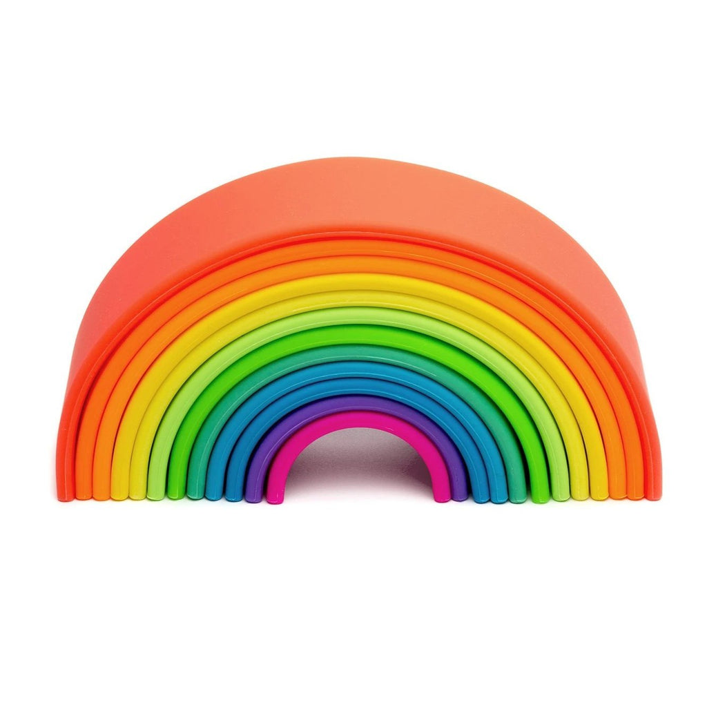 dëna Large Silicone Neon Rainbow Stacker