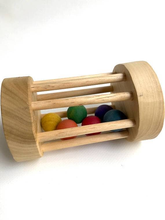 Roly Poly Wooden Rattle