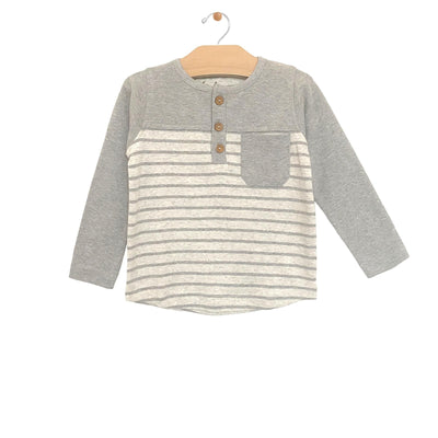 City Mouse - Melange Stripe Henley