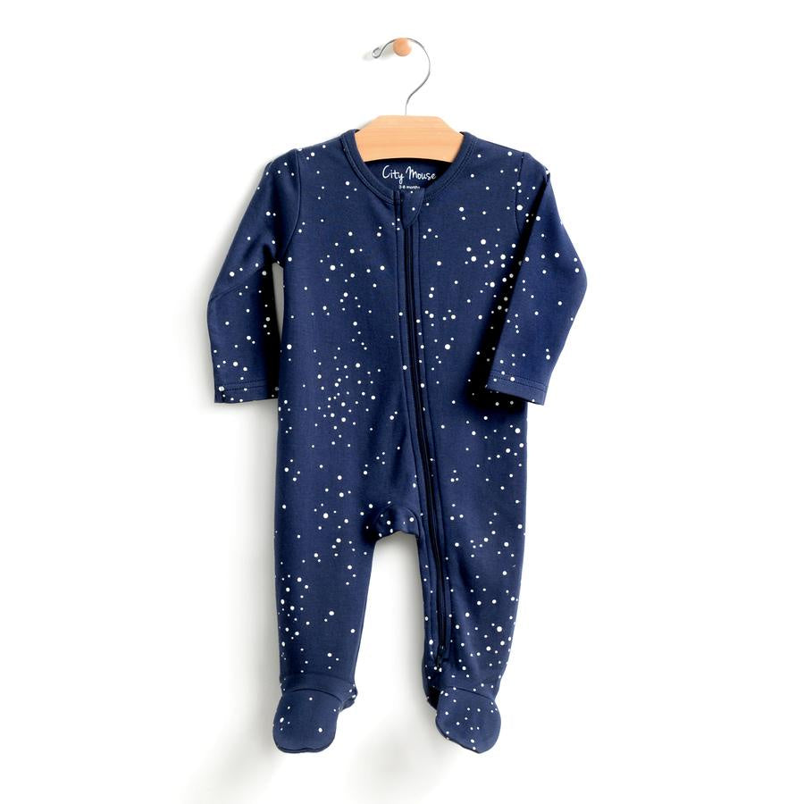 City Mouse - 2-Way Zip Romper - Night Sky