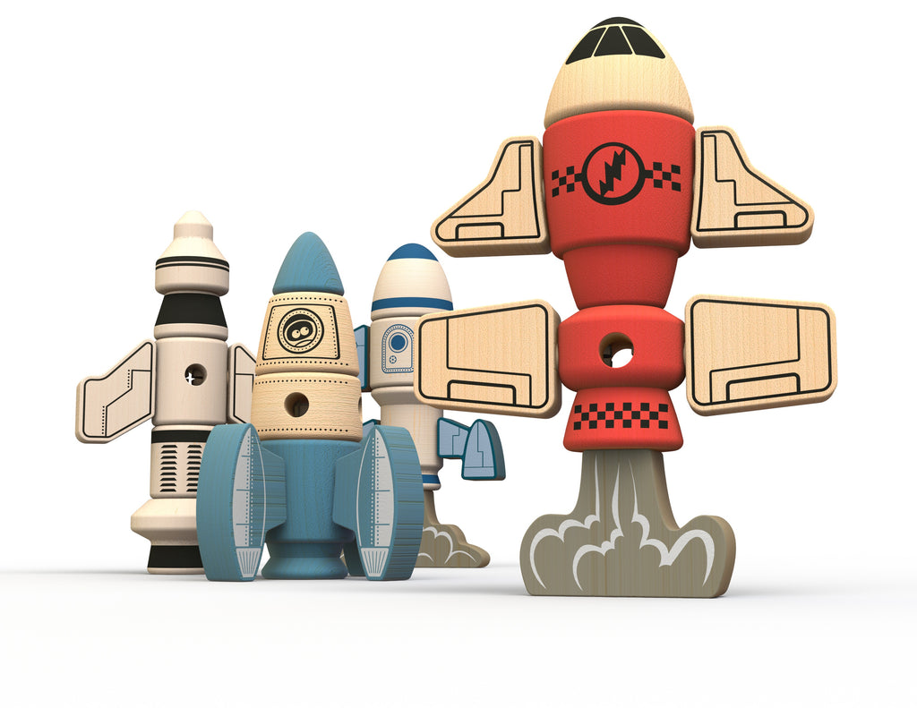 Begin Again Tinker Totter Rockets Construction & Character Set