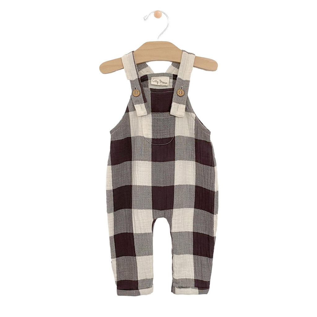 City Mouse - Buffalo Check Crinkle Cotton Overall