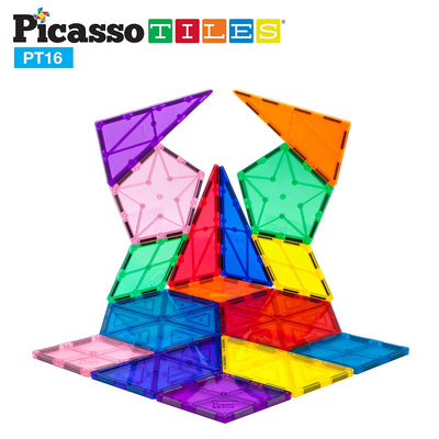 Picasso Tiles 16 Piece Magnetic Building Set