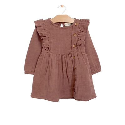 City Mouse - Rosewood Muslin Placket Dress